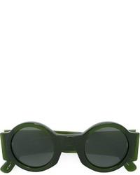 Gafas de sol verde oscuro de Linda Farrow