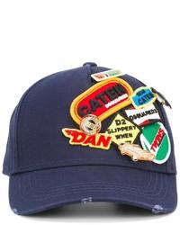 Gorra de béisbol azul marino de DSQUARED2