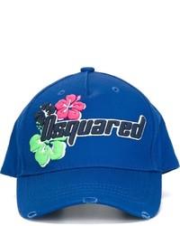 Gorra de béisbol azul de DSQUARED2