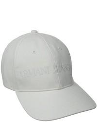 Gorra de béisbol blanca de Armani Jeans