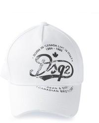 Gorra de béisbol blanca de DSQUARED2