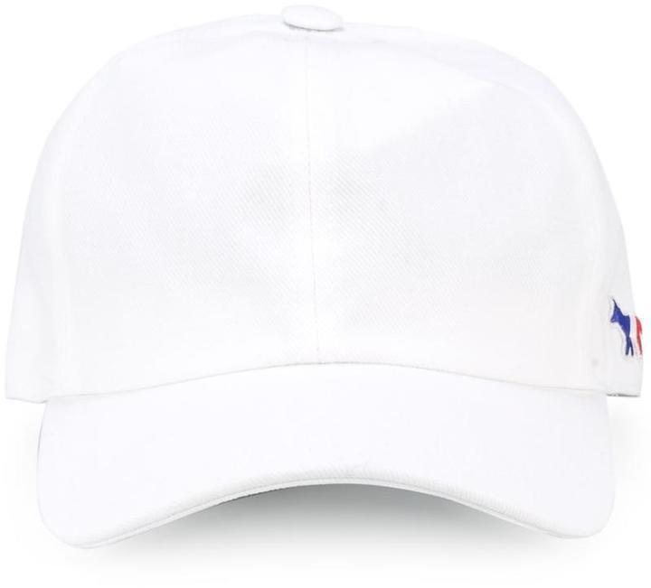 ... Gorra de béisbol blanca de MAISON KITSUNÉ cfe62d506ec