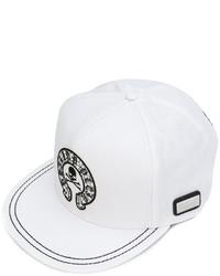 Gorra de béisbol blanca de Philipp Plein