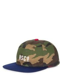 Gorra de béisbol de camuflaje verde oliva
