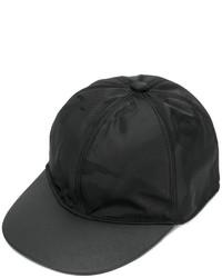 Gorra de béisbol de cuero de camuflaje negra de Valentino Garavani