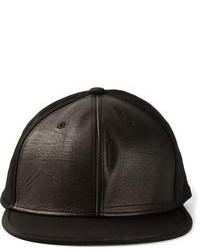 Gorra de béisbol de cuero negra de Damir Doma