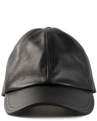 Gorra de béisbol de cuero negra de Tomas Maier