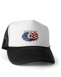 Gorra de béisbol en blanco y negro