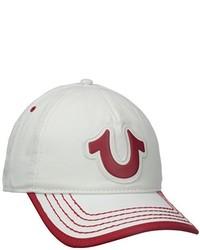 Gorra de béisbol en blanco y rojo de True Religion