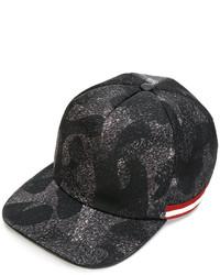Gorra de béisbol en gris oscuro de Bally
