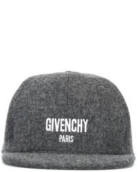 Gorra de béisbol en gris oscuro de Givenchy
