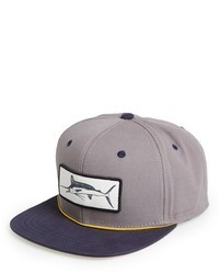 Gorra de béisbol estampada gris