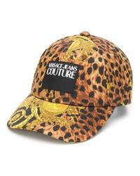 Gorra de béisbol estampada marrón de VERSACE JEANS COUTURE