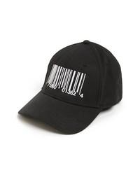 Gorra de Béisbol Estampada Negra y Blanca