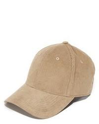 Gorra de béisbol marrón claro