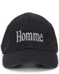 Gorra de béisbol negra de Balenciaga