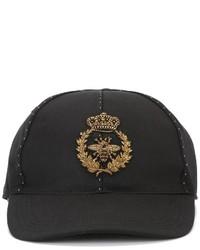Gorra de béisbol negra de Dolce & Gabbana