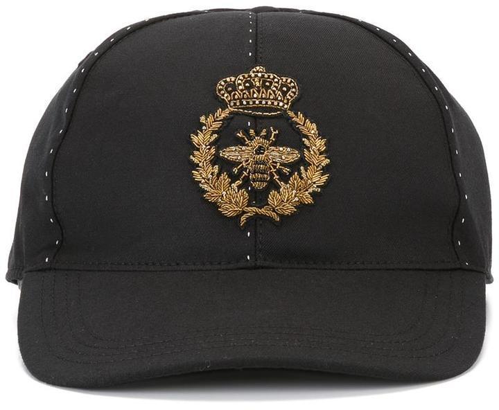 c6eebde62f2a8 ... Gorra de béisbol negra de Dolce   Gabbana
