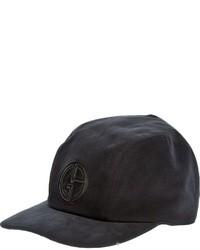 Gorra de béisbol negra de Giorgio Armani