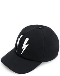 Gorra de béisbol negra de Neil Barrett