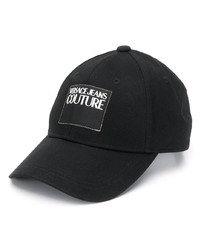 Gorra de béisbol negra de VERSACE JEANS COUTURE
