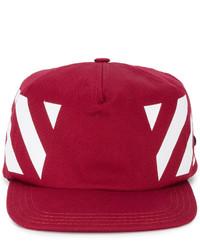 Gorra de béisbol roja de Off-White