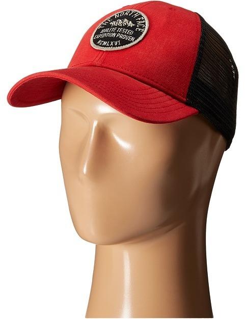 gorra north face roja