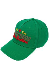Gorra de béisbol verde de DSQUARED2