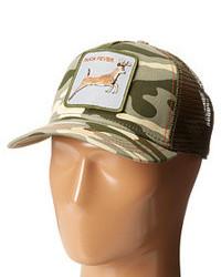 Gorra inglesa de camuflaje verde oscuro