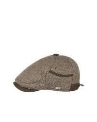 Gorra inglesa de espiguilla en marrón oscuro