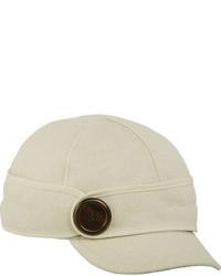 Gorra inglesa de lana blanca