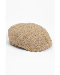 Gorra inglesa de tartán marrón claro