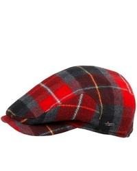 Gorra inglesa de tartán roja