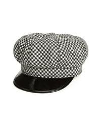 Gorra inglesa en negro y blanco