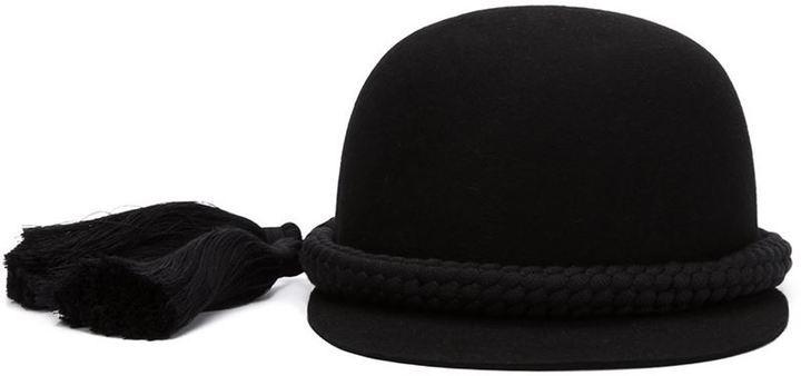 Gorra inglesa negra de Lanvin