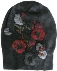 Gorro con print de flores en gris oscuro de Avant Toi