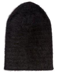 Gorro de angora negro
