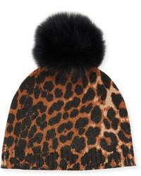 Gorro de leopardo marrón