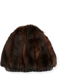 Gorro de pelo en marrón oscuro