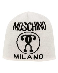 Gorro estampado blanco de Moschino
