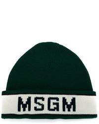 Gorro verde oscuro de MSGM