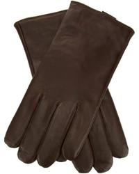 Guantes de cuero en marrón oscuro de Roeckl