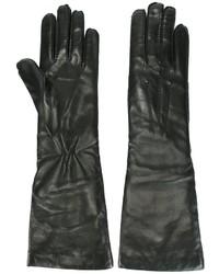 Guantes de cuero negros de Ann Demeulemeester