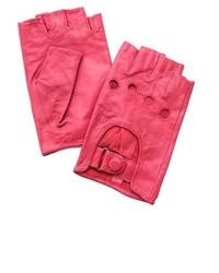 Guantes de cuero rosa
