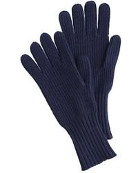 Guantes de lana azul marino