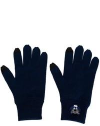 Guantes de lana azul marino de Kenzo