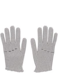 Guantes de lana de punto grises