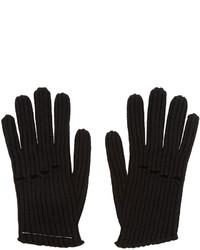 Guantes de lana de punto negros