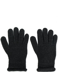 Guantes de lana en gris oscuro de Armani Jeans