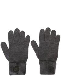Guantes de lana en gris oscuro de DSQUARED2